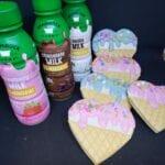 Ice cream cookies & Milk