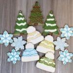 christmas snowflakes trees