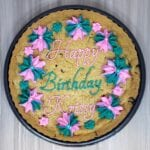 cookie cake pink teal