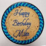 cookie cake bday blue