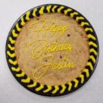 cookie cake bday yellow