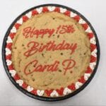 cookie cake birthday red