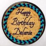 Cookie cake birthday blue
