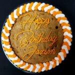 cookie cake birthday orange