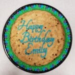 cookie cake birthday tricolor